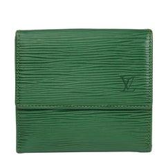 Louis Vuitton Borneo Green Epi Leather Vintage Elise Wallet, 1992