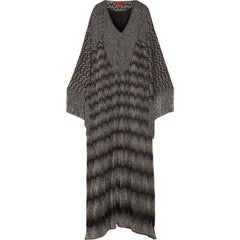 Stunning Missoni Fringed Lurex Metallic Maxi Kaftan Gown