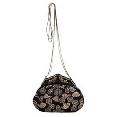 Black & Gold Vintage Judith Leiber Evening Bag