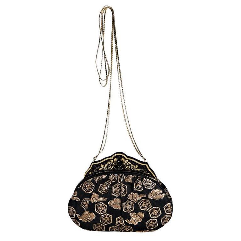 Black & Gold Vintage Judith Leiber Evening Bag