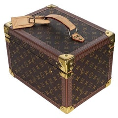 Brown Louis Vuitton Monogram Train Case Trunk