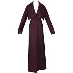 """F/W 1998 """"Joan"""" Alexander McQueen Oxblood Red Catholic Long Dress Coat"""