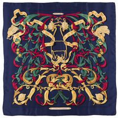 Vintage Hermes Silk Scarf  'Le Mors a la Connetable' by Henri d'Origny