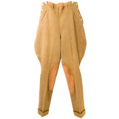 1920s Tan Jodhpurs with Suede Grip Pads