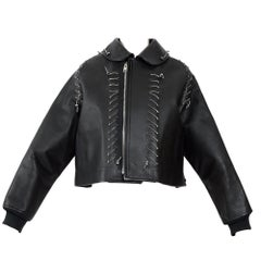 Comme des Garcons ballerina collection Met Museum featured leather jacket
