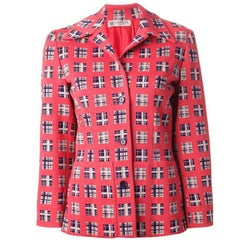 Lanvin Multico Wool Jacquard Blazer