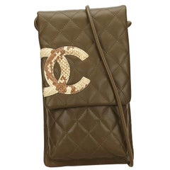Chanel Brown x White Cambon Ligne Crossbody Bag