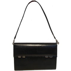 Judith Leiber Black Lizard Wallet Wristlet Clutch