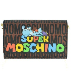 Moschino Nintendo Super Mario Bros Logo Leather Chain Wallet