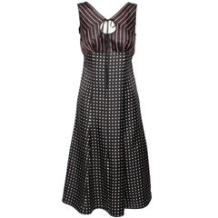 Louis Vuitton Silk Striped and Spotted Sleeveless Dress