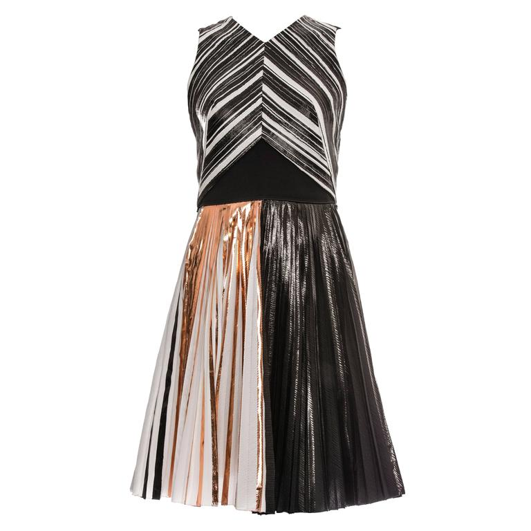 Proenza Schouler Sleeveless Crystal Pleated Dress, Spring - Summer 2014 1