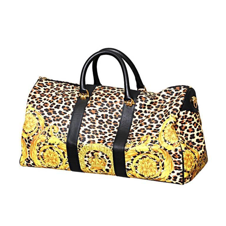 Gianni Versace Baroque Print Duffle Bag at 1stdibs adda216f76a68