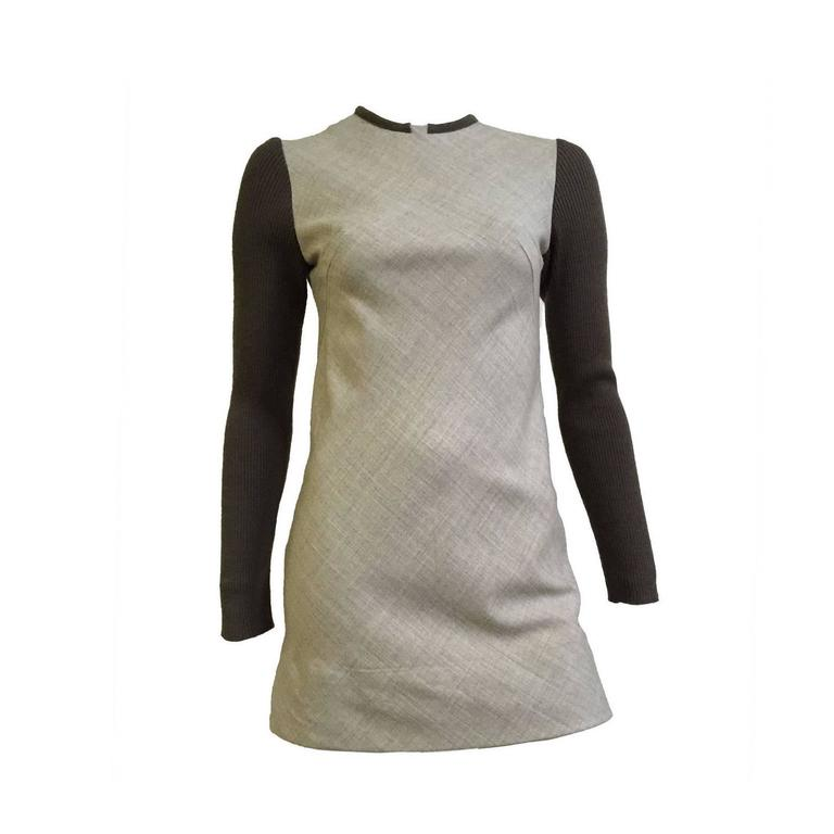 Paco Rabanne 80s Mini Wool Dress Size 4. 1