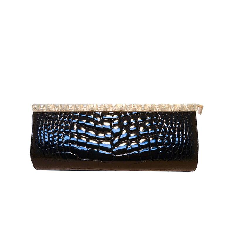 Barry Kieselstein-Cord Black Alligator Clutch