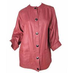1970s Oscar de la Renta Linen Jacket