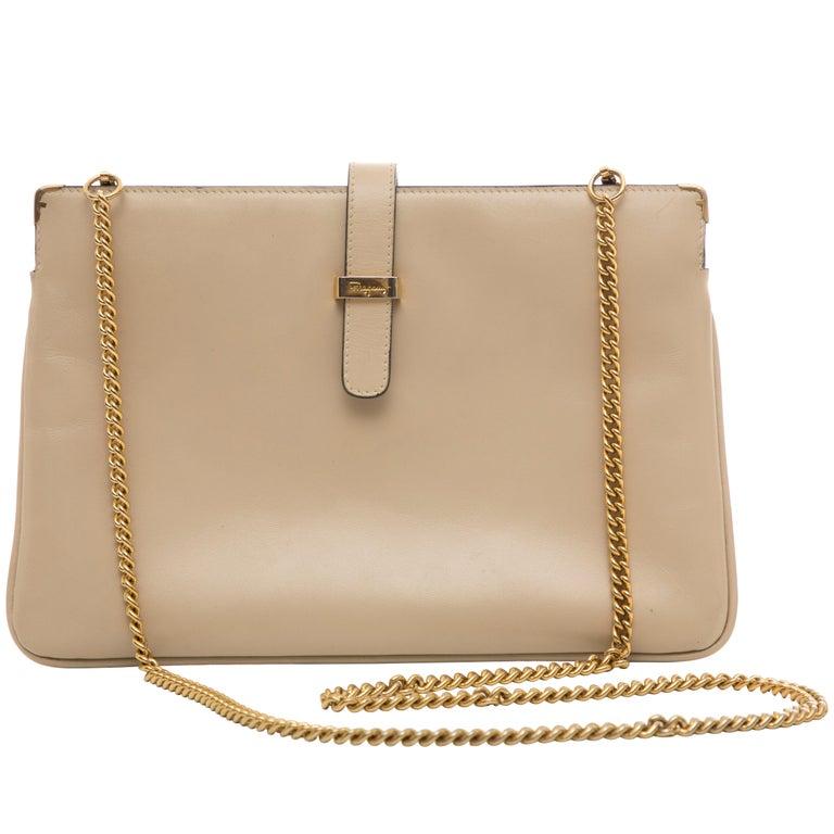 Salvatore Ferragamo Leather Crossbody Bag, Circa: 1990's