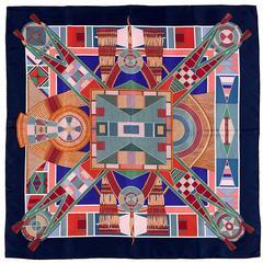 WOW Hermes Silk Scarf L'Art Indien des Plaines by Sophie Koechlin