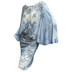 Versace Collection Spectacular Pegasus Design Jersey Knit Dress