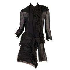 1990s Yohji Yamamoto Sheer Deconstructed Shirt Dress