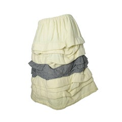 Comme des Garcons Ruffle Skirt with Gingham