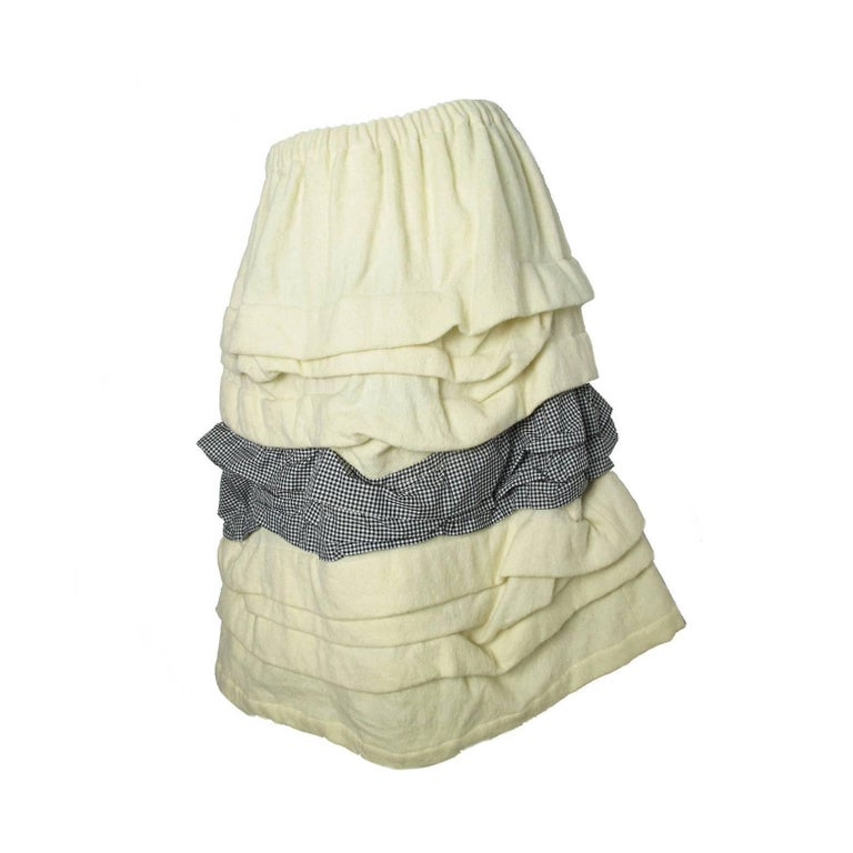Comme des Garcons Ruffle Skirt with Gingham  For Sale