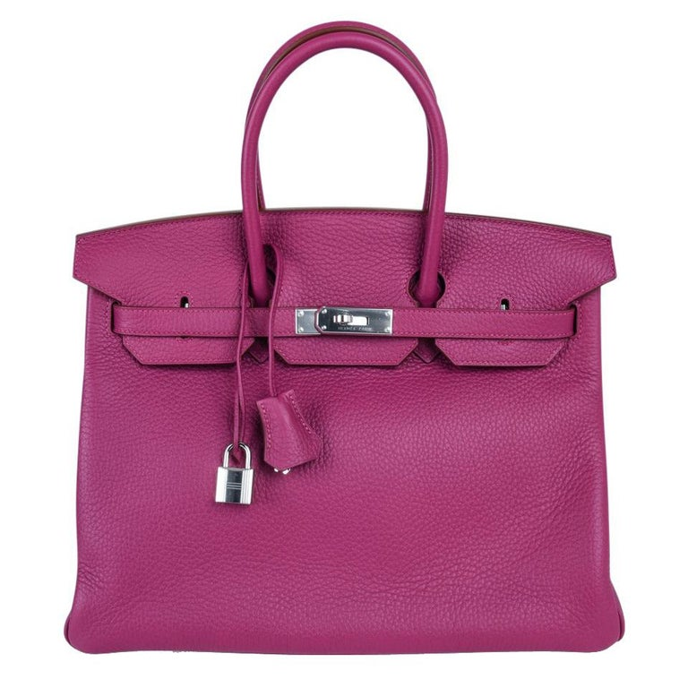 Hermes Tosca HSS Clemence Palladium Birkin 35 Bag  For Sale