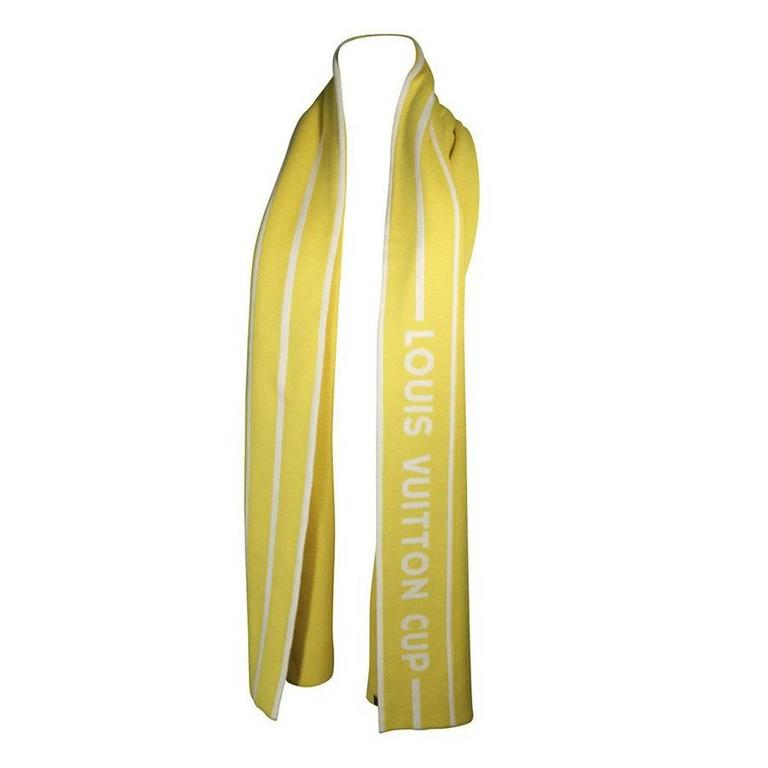 Louis Vuitton Cup Cashmere Blend Scarf Yellow With Tags