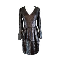 Yves Saint Laurent Black Cavier Sequin Evening Dress - 38