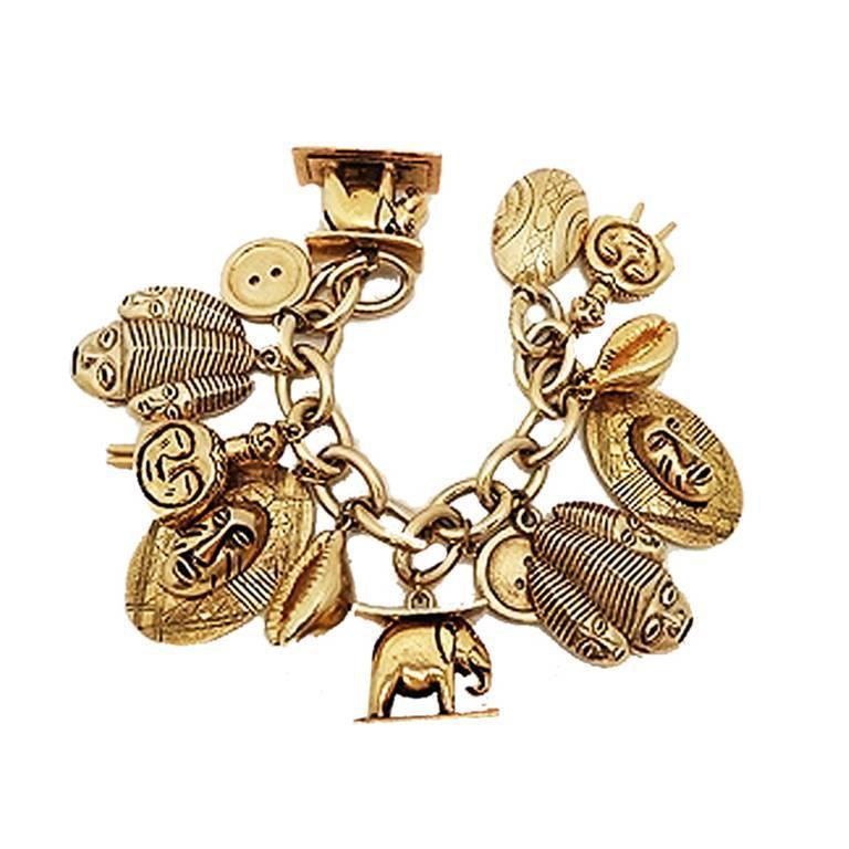 Vintage Isabel Canovas Multi-Charm Bracelet 1