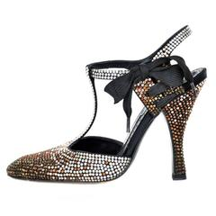 Tom Ford for Yves Saint Laurent Rhinestone Spectator Shoes 36