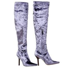 TOM FORD FOR GUCCI VELVET OVER THE KNEE BOOTS New!