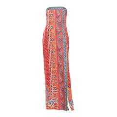 Oscar de la Renta Silk Strapless Dress, Circa 1980's
