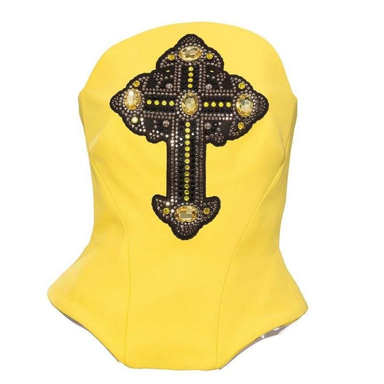 Versace Bustier With Appliqued Gothic Cross, Autumn - Winter 2012