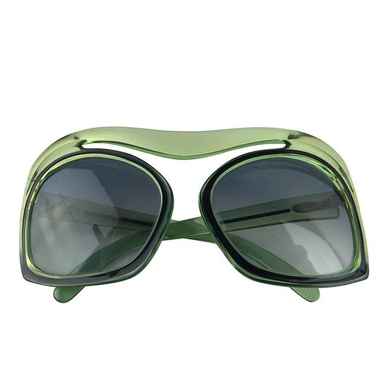 1970's Christian Dior Mint Green Sunglasses. For Sale