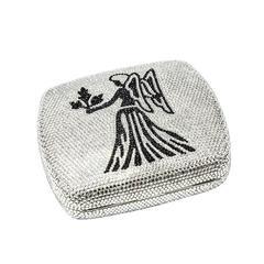 Judith Leiber Swarovski Crystals Zodiac Minaudière Brand New UnUsed Handbag