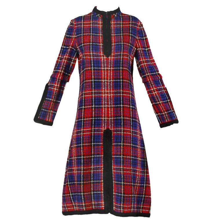 Oscar de la Renta Vintage 1960s Plaid Dress