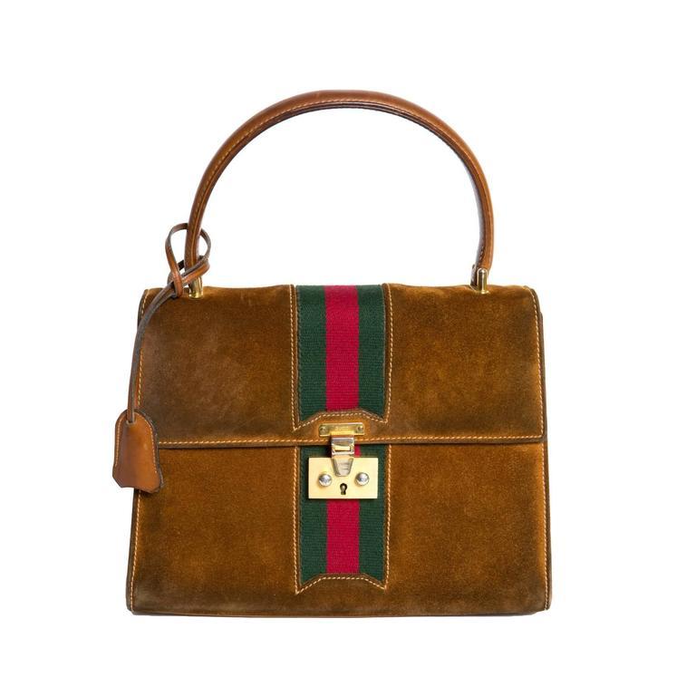 1970s Rare Gucci Camel Bag For Sale