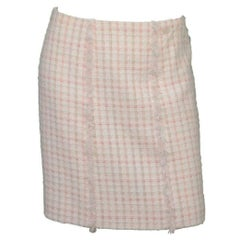 Chanel White Tweed A-Line Skirt sz FR36