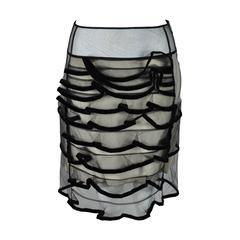 Christopher Kane Tulle and Black Velvet Skirt
