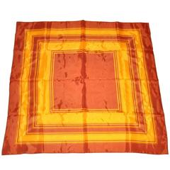 Golden Brown and Gold Abstract Silk Scarf