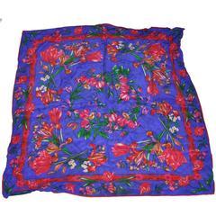 Liz Claiborne Multi-Color Floral Print Silk Scarf