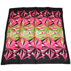 Nicole Miller Multi-Color Bold Abstract Silk Scarf