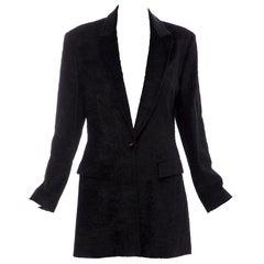 Salvatore Ferragamo Black Flecked Velvet Blazer, Circa: 1990's