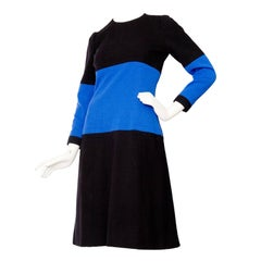 1960s Givenchy Haute Couture Graphic Wool Dress
