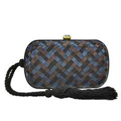 Iconic Bottega Venetta Silk Knot Clutch