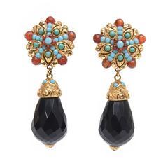 Graziano Pair of Elegant Italian Drop/Dangle Earrings