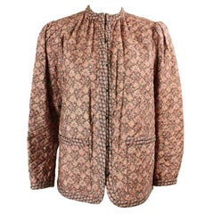 Late 1970's Yves Saint Laurent Quilted Floral Jacket
