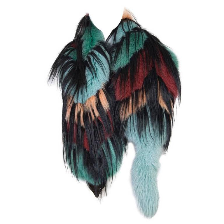 Missoni Fox and Yak Fur Stole For Sale
