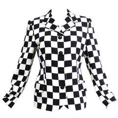 Gianni Versace Couture Silk Checkered Jacket, 1994