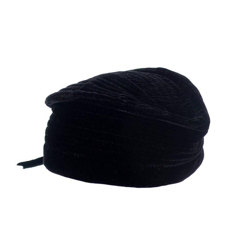 Vintage Valentino Garavani Boutique Vintage Hat Designer Velvet Cap